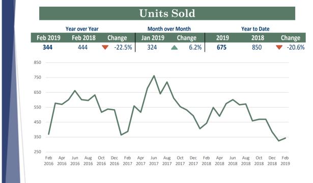 Feb 2019 Units sold